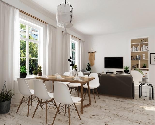 部屋と家具 ホームステージング