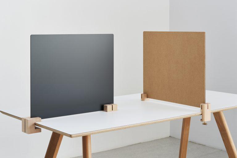 木製クランプで固定・組合せが選べるパーティション SASAUシリーズ販売開始