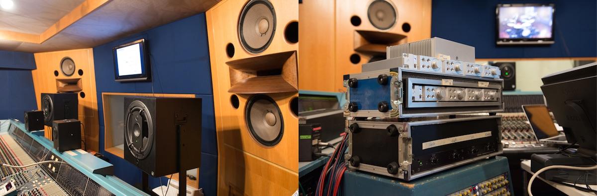 Musik RL901、RL906をモニターに、ピアノとドラムOHのHAに Sym・Proceed SP-MP4を使用。