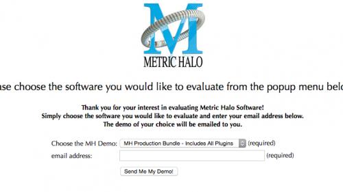 Metric Haloソフトウェア製品 デモ試用版利用方法