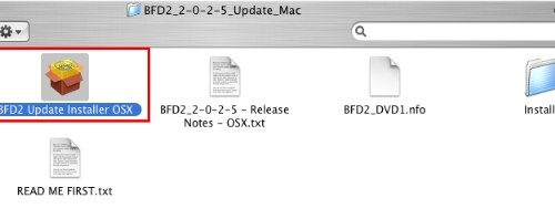 BFD2アップデータ インストール手順
