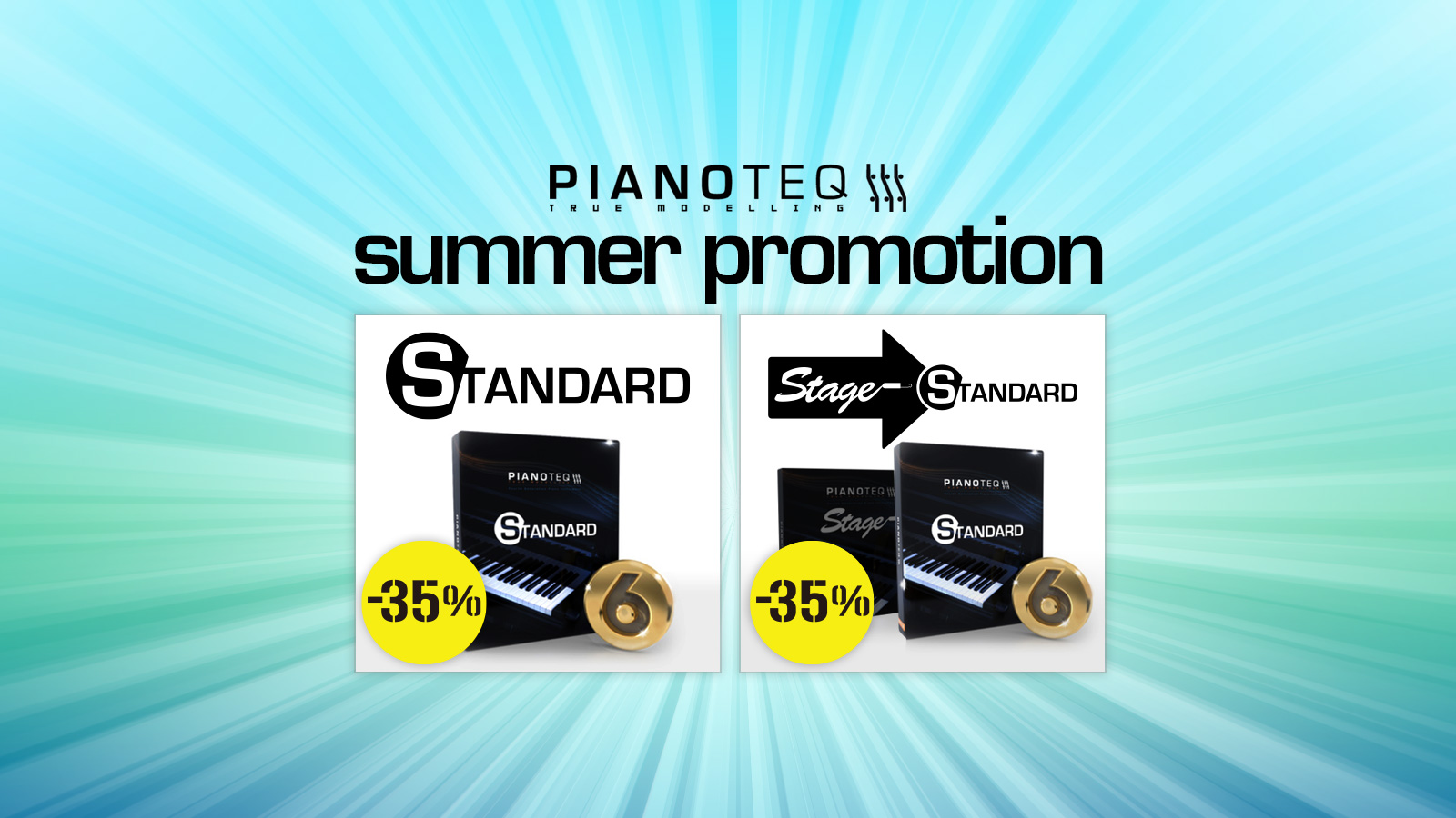Pianoteq Summer Promotion! Pianoteq 6 Standardが通常盤もアップグレード版も、今だけ35%オフ!