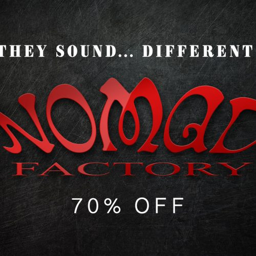 Nomad Factory製品が一律70%オフ!