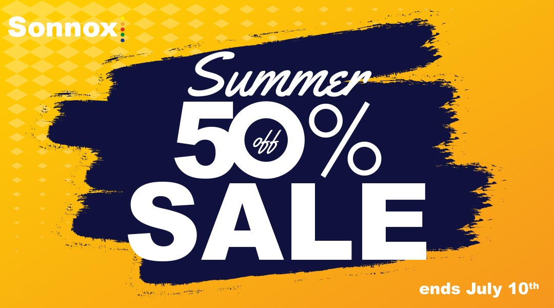 全品50%オフ!Sonnox Summer Sale 2019