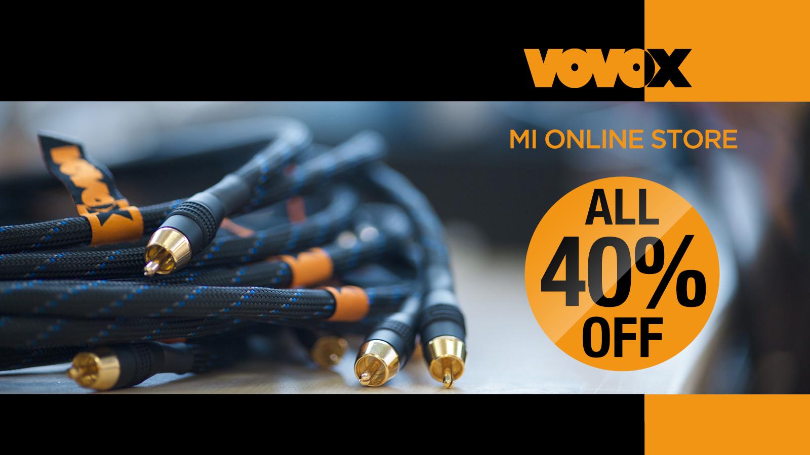 Vovoxケーブルが数量限定で一律40%オフ!Vovoxブラックフライデー・プロモーション