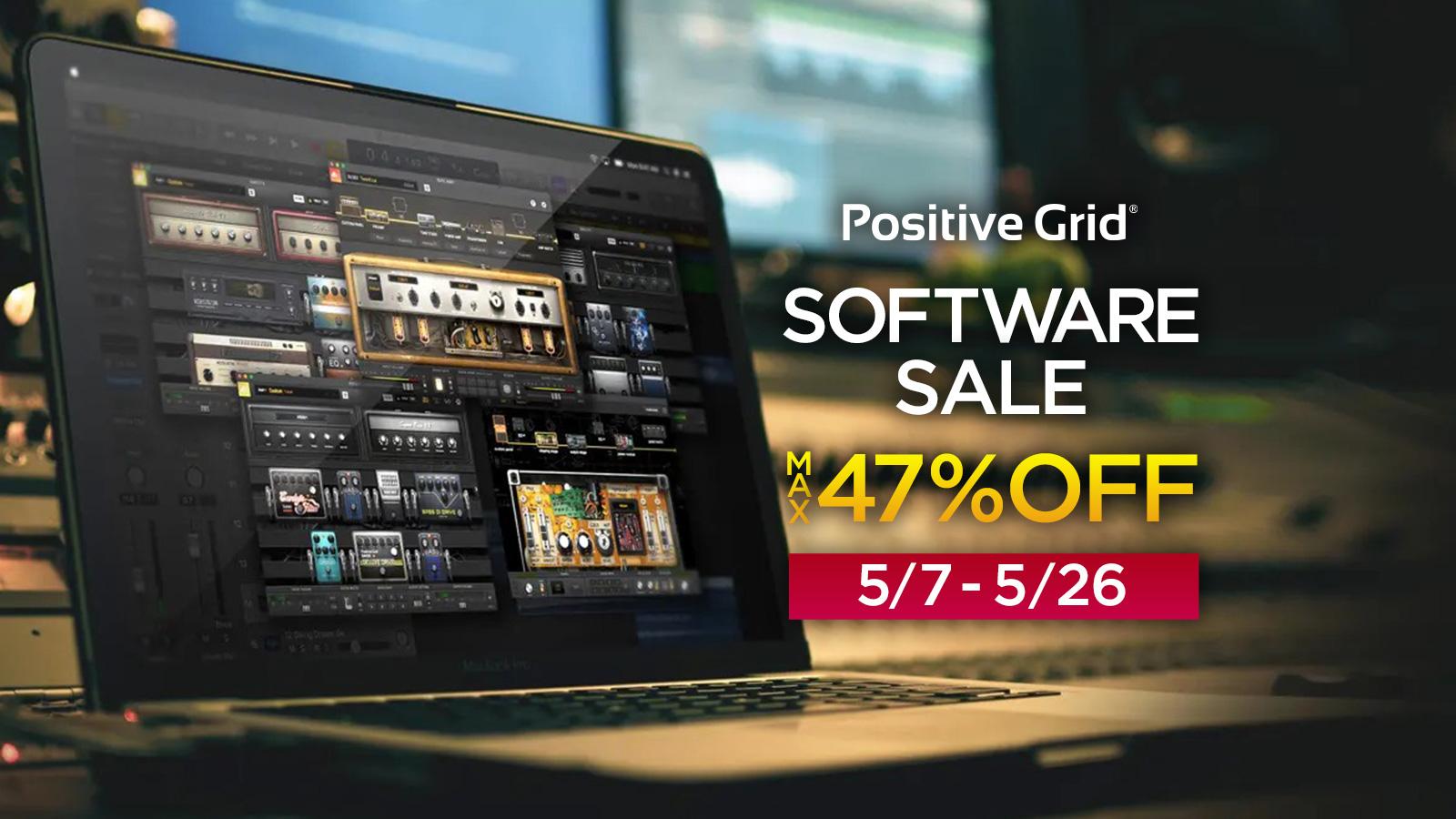 最大47%オフ!Positive Grid Software プロモーション