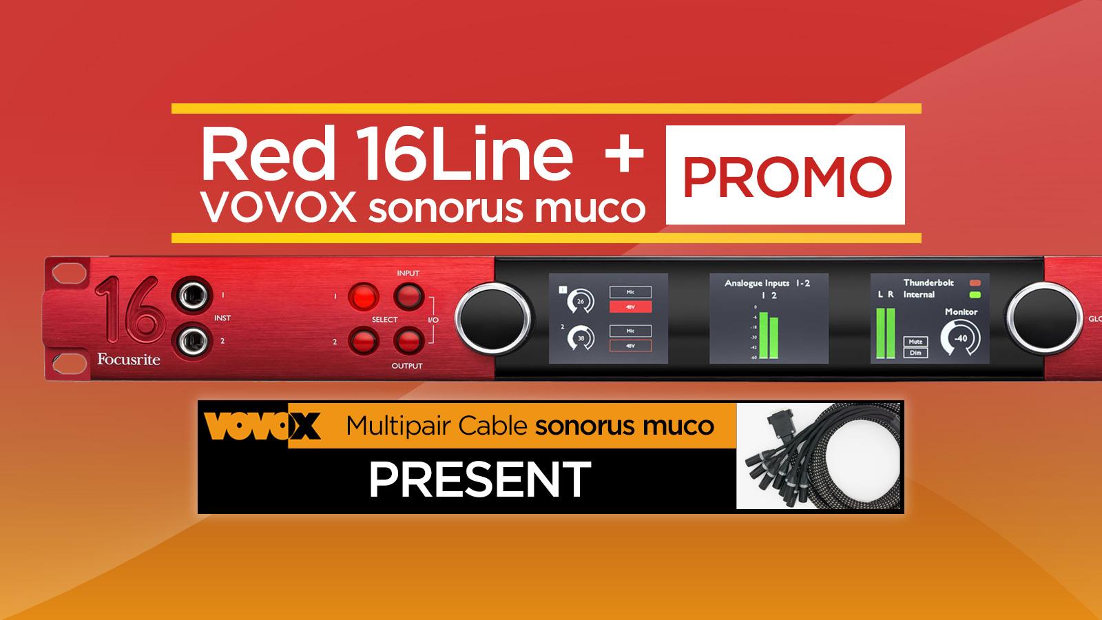 高精度なマスタリング・グレード・コンバージョン性能を極限まで引き出す!Red 16Line + VOVOX sonorus mucoプロモーション