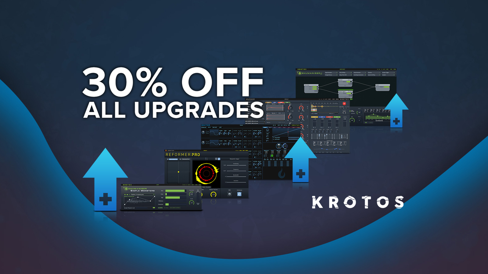 KROTOS製品を一つでもお持ちなら、すべてのアップグレードが30%OFF!
