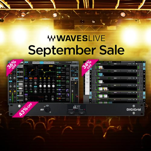 増税前のチャンス Waves Live September Sale!
