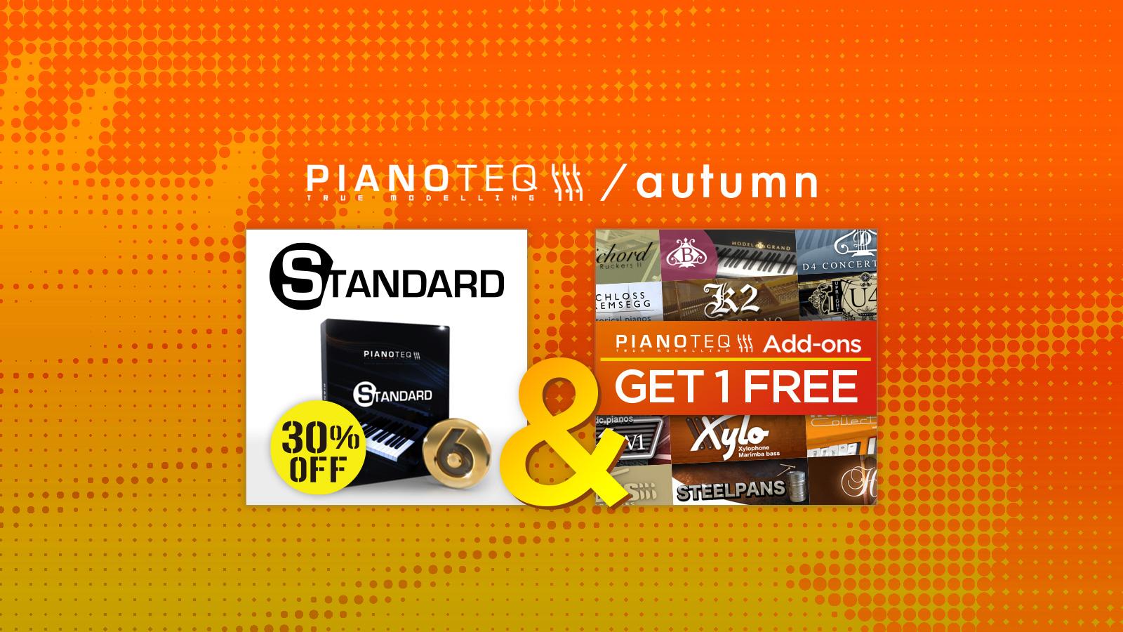 日本限定!MODARTT Pianoteq 6 Standerdが30%オフ & add-on GET 1 FREE!