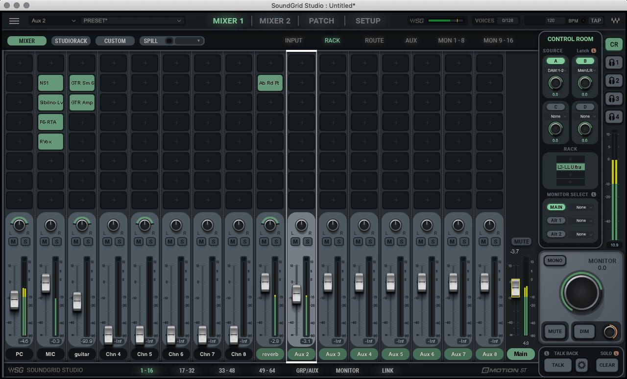SoundGrid Studioアプリケーション