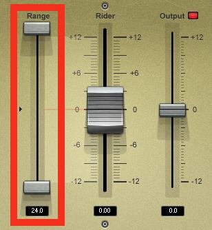 Bass rider Rangeフェーダー