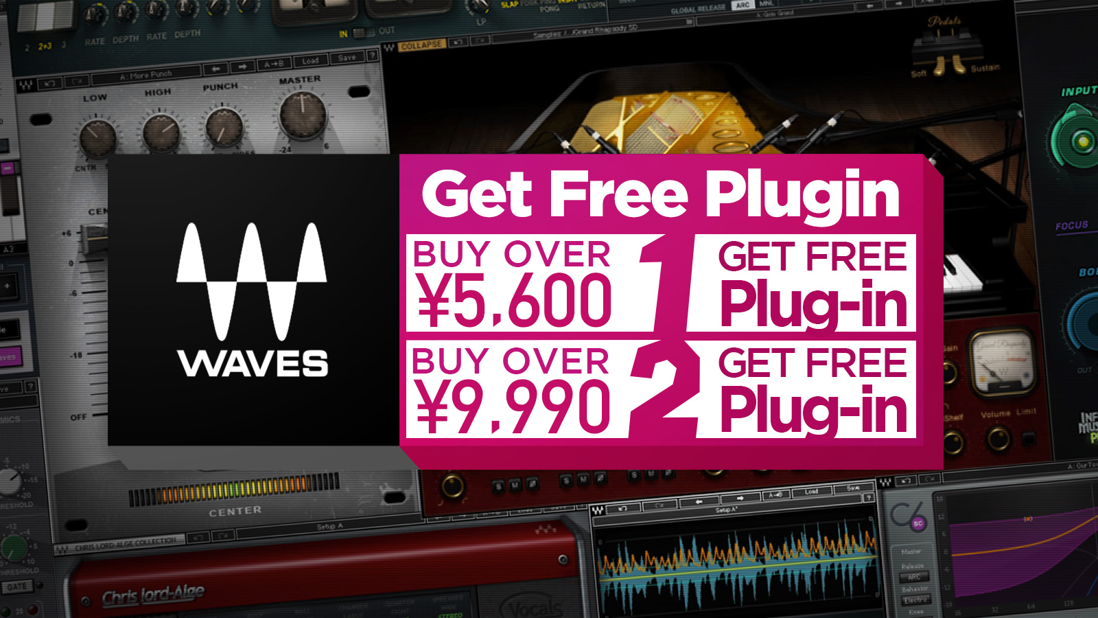 Waves Get Creative Sale – Get Free Plugin!
