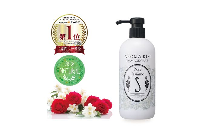 AROMA KIFI Damage Care Shampoo - Rose & Jasmine