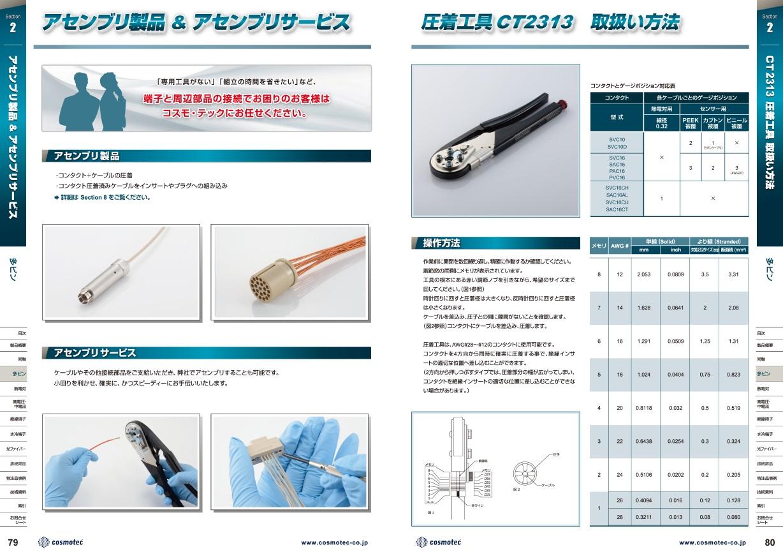 圧着工具の取り扱い方法