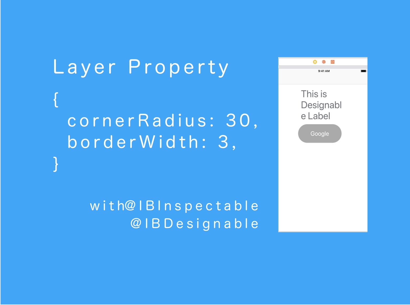 IBDesignable、IBInspectableを使ってStoryboardでデザインする方法