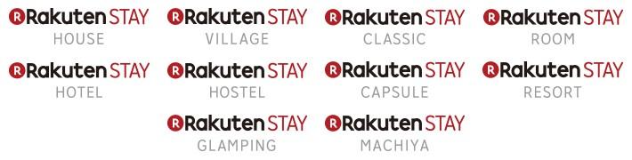 Rakuten STAY's sub-brand logos