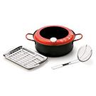 油温計付天ぷら鍋セット