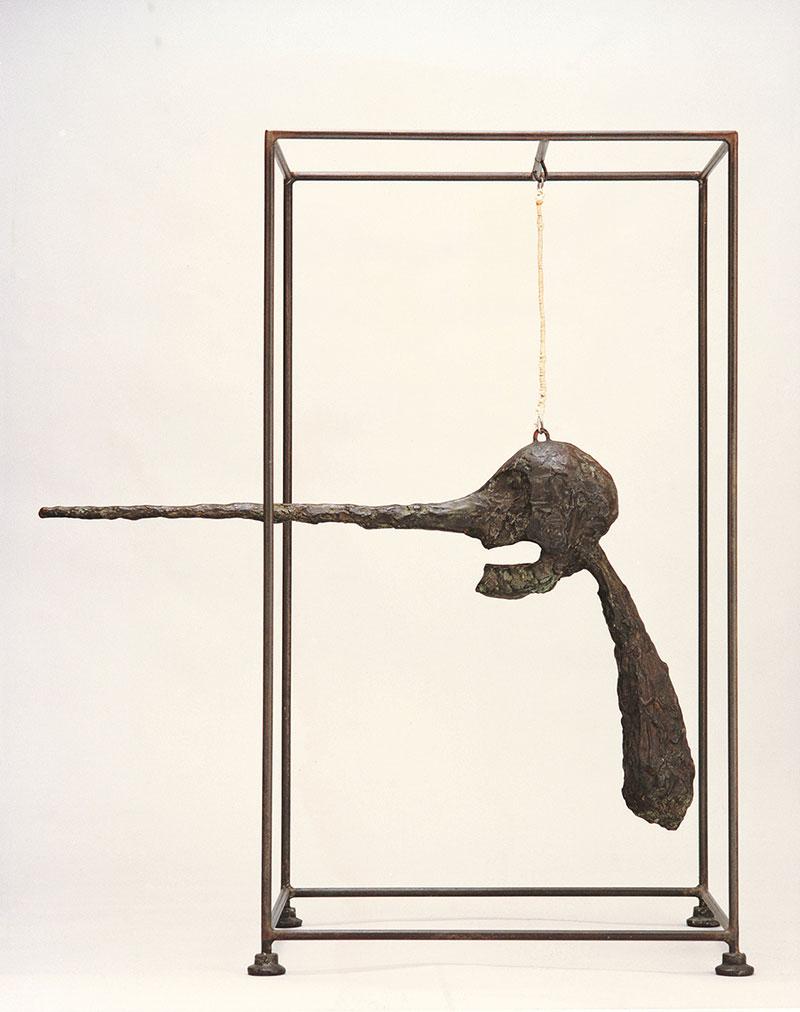 アルベルト・ジャコメッティ 《鼻》1947年 ブロンズ、針金、ロープ、鉄 大阪新美術館建設準備室
