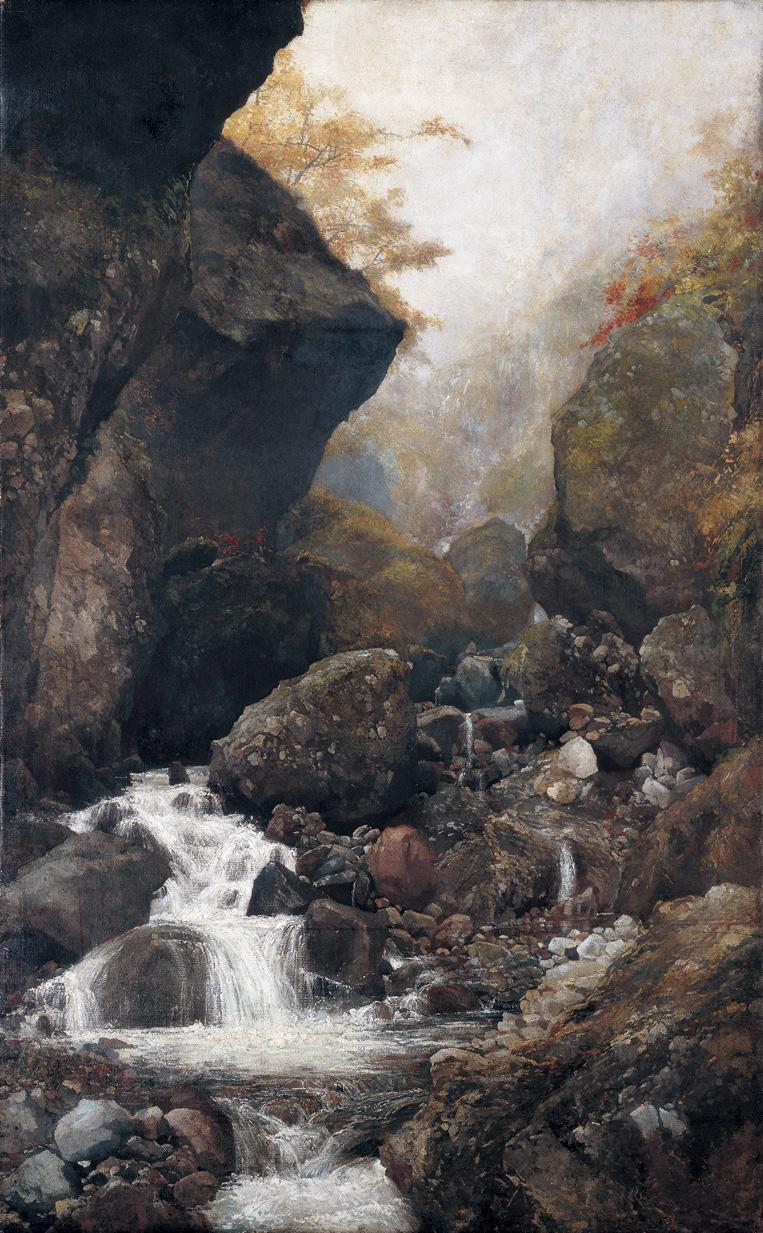 《雲叡深秋》明治31(1898)年,油彩,福岡市美術館蔵