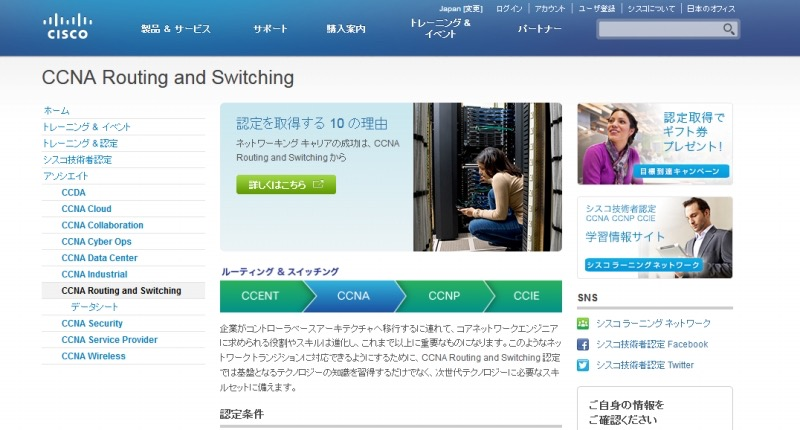 Cisco Certified Network Associate(CCNA)