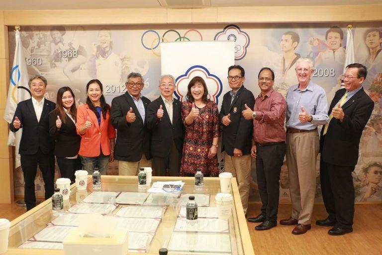 亞太槌球聯合會各國代表拜訪中華奧會