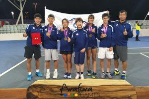 網球團體摘冠 中華隊第 9 金入袋