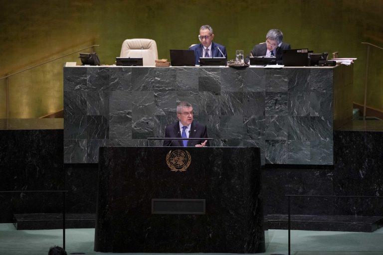 聯合國會員大會通過奧林匹克停戰決議