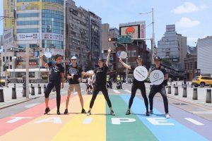 中華奧會熱血運動快閃西門町 直播歡慶國際奧林匹克日