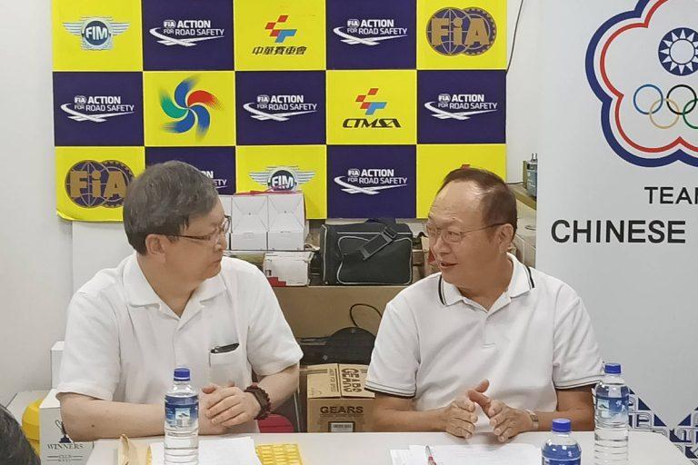 強棒出擊–陳國儀顧問24日前往中華賽車會 宣導奧會模式、兩岸體育交流規範獲得滿堂彩