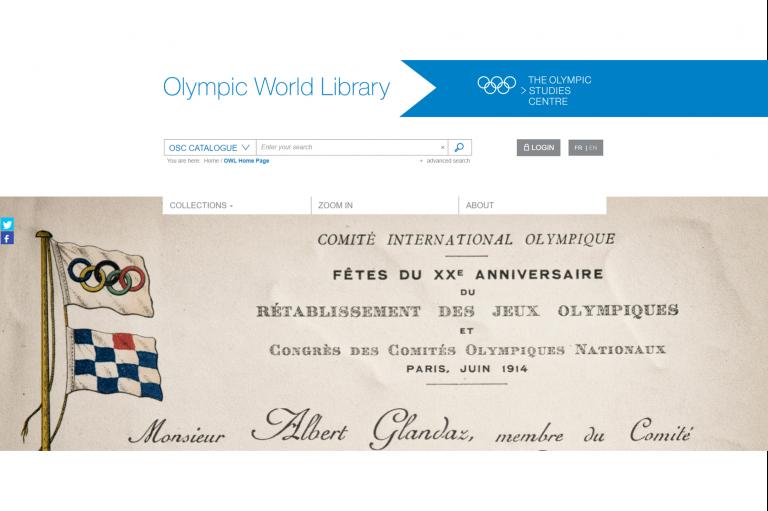 國際奧會推廣奧林匹克世界圖書館