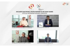 亞洲奧林匹克理事會(OCA)與亞洲電子競技總會(Asian Electronic Sports Federation,簡稱 AESF)簽署了亞運會合作協議