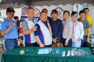 中華奧會林鴻道主席現身 110 全中運 化身奧林匹克宣傳大使為選手加油