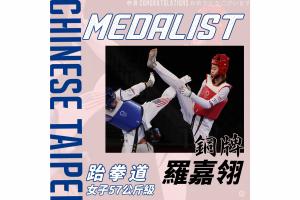 恭賀 羅嘉翎 選手奪得 2020 東京奧運女子跆拳道 57 公斤級銅牌