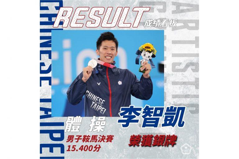 恭賀 李智凱 奪得 2020 東京奧運體操男子鞍馬銀牌