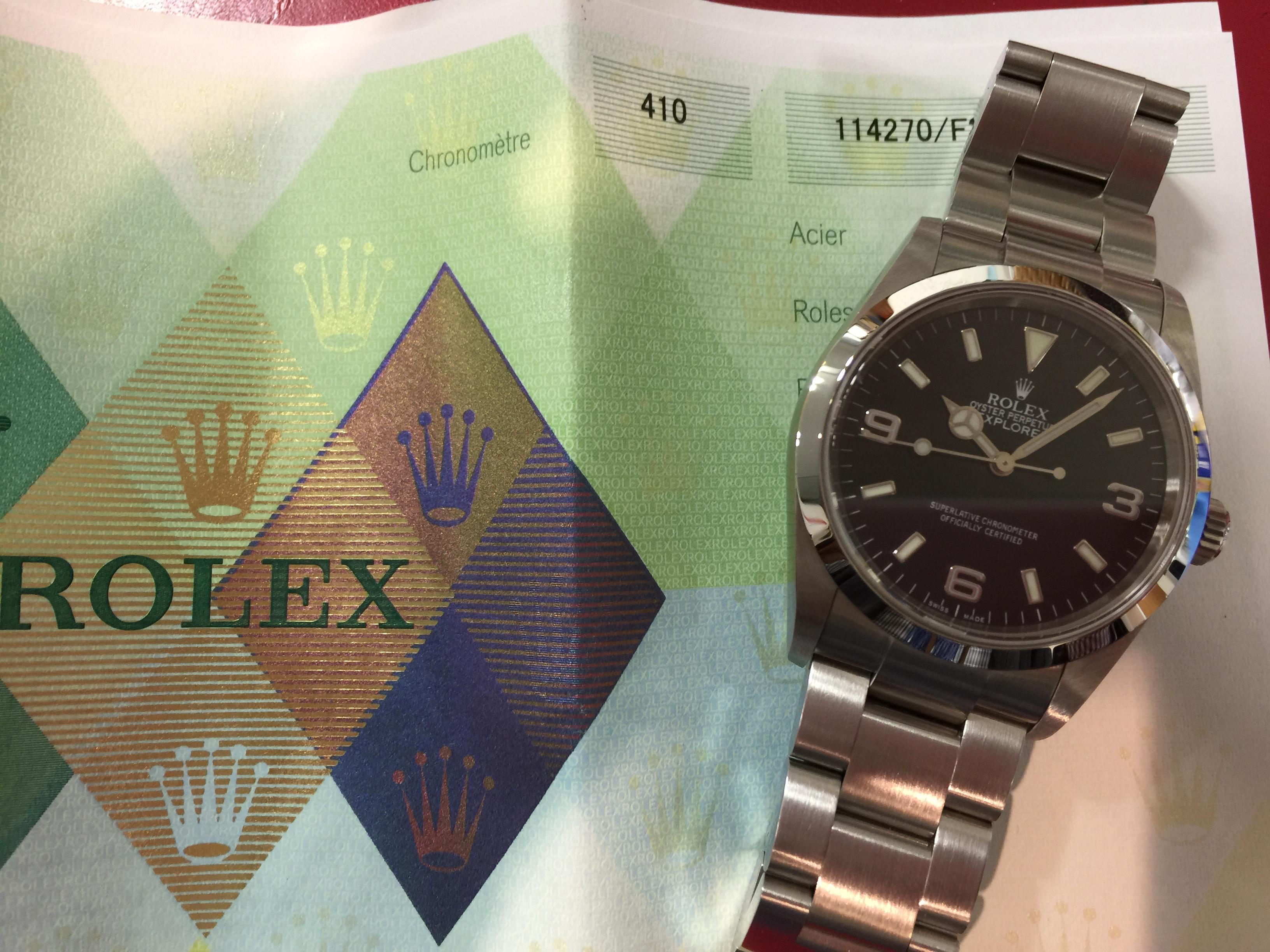 ロレックス ROLEX エクスプローラー 114270 F番