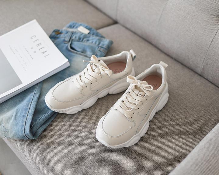 韓系奶茶色老爹鞋