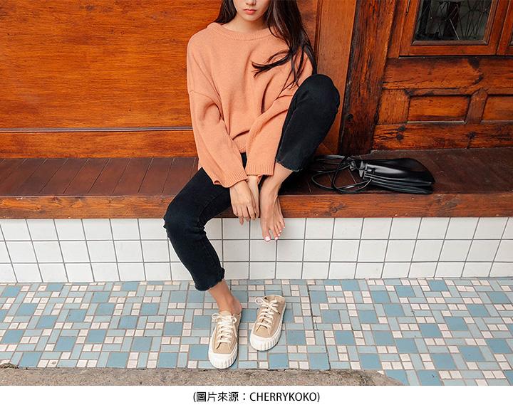 奶茶色休閒鞋
