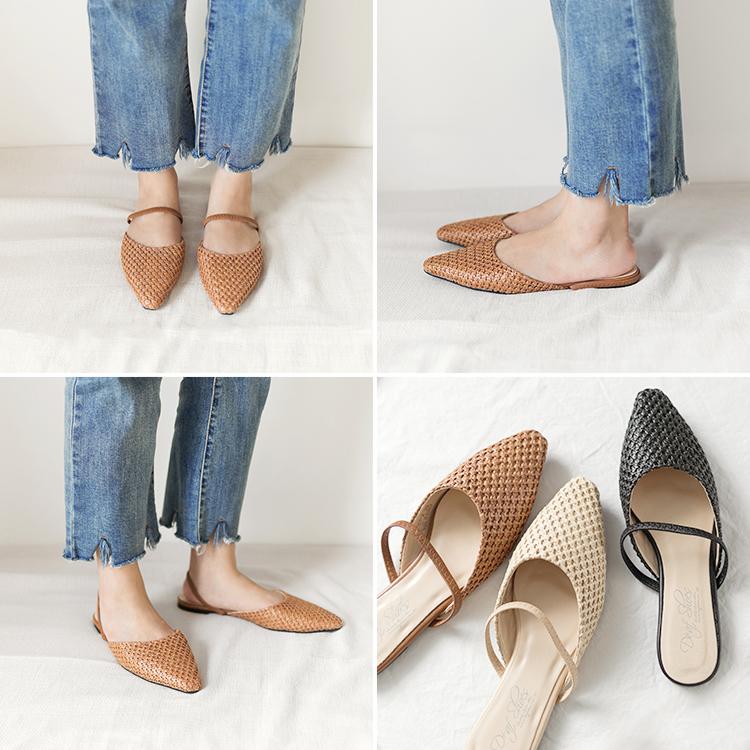 尖頭編織鞋