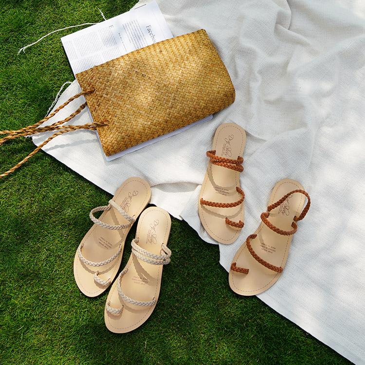 編織平底拖鞋