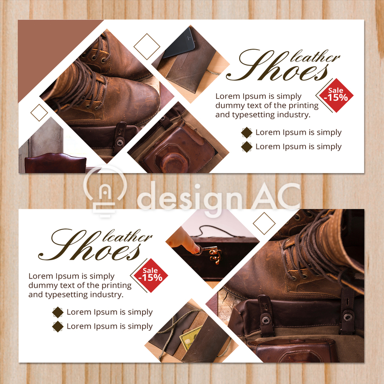 Business banner, banner, simple, design, Fashionable, business, Publicity, Ad, discount, Layout, template, Sale, side, Sale, Leather shoes, Leather goods