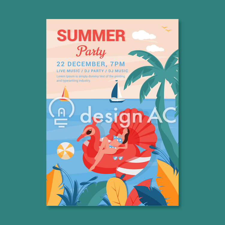 Summer poster, sea, Advertisement, Flyer, The event, Poster, dj, Resort, live, Live music, Woman, Live event, Summer vacation, Summer, Party, dj party