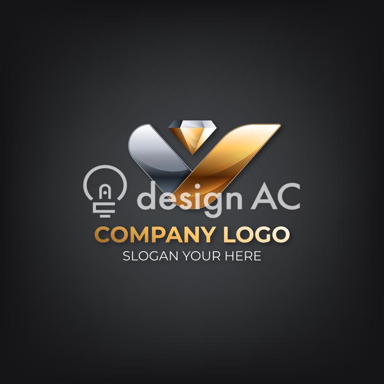 Logo mark design, Fashionable, elegant, gold, business, sample, logo, Logo, emblem, Logo sample, Business logo, Logo design, Corporate logo, Design sample, Silver, Jewelry shop