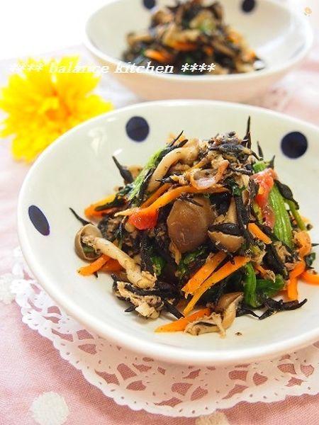 【常備菜】ひじきとツナの梅風味サラダ