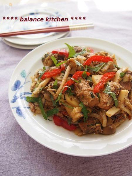 10分!サバ缶と野菜のしそ味噌炒め