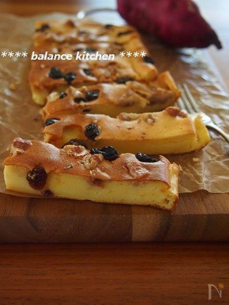 プロセスチーズで!混ぜるだけ。さつまいもチーズケーキ