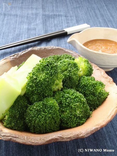 ブロッコリーの一番好きな食べ方 ~ からし酢味噌添え