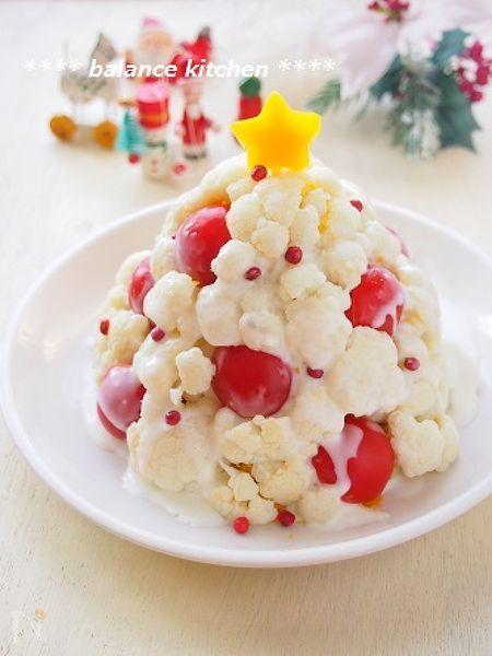 簡単!ホワイトクリスマスツリーのかぼちゃサラダ