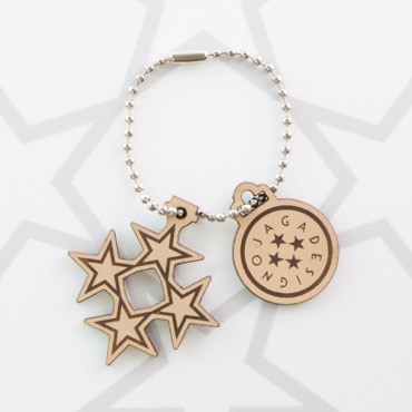 OJAGA STAR STAND KEY CHAIN