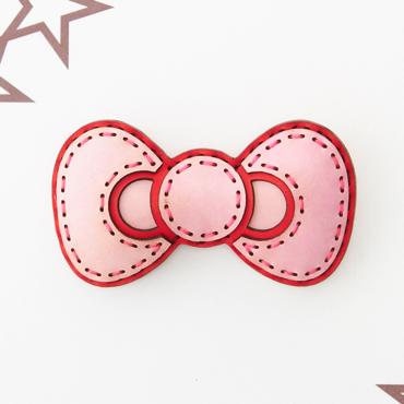 HELLO KITTY RIBBON BADGE